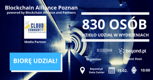 BLOCKCHAIN ALLIANCE POZNAŃ 2019 – Cloud Community Europe partnerem medialnym