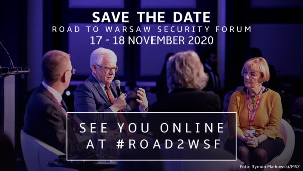 #Road2WSF – Wirtualna Konferencja – Warsaw Security Forum już 17-18 listopada 2020 roku!